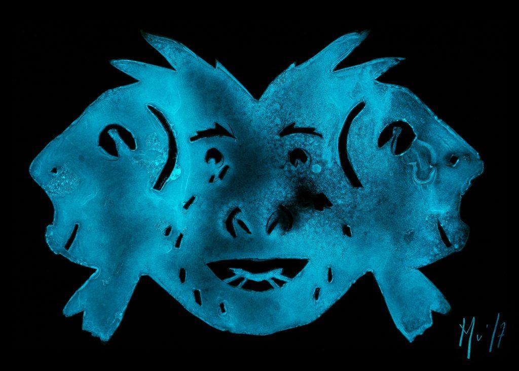 Mu Muriel Blondeau Homme-poisson Bioluminescence Art Mer