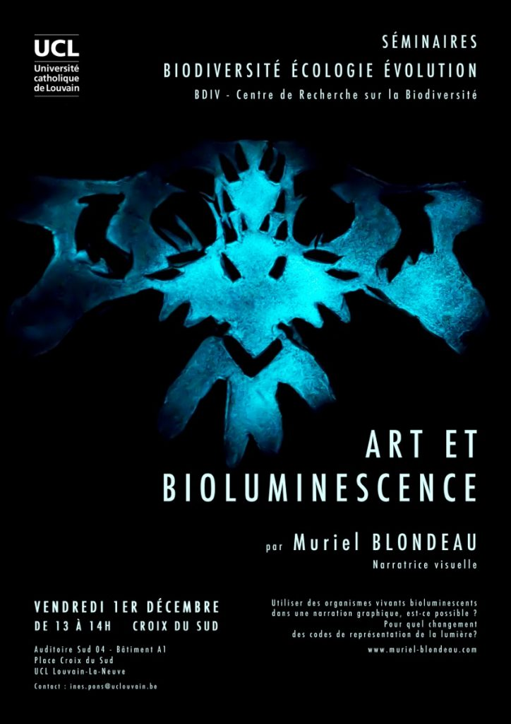 BDIV UCL Mu art bioluminescent Muriel Blondeau
