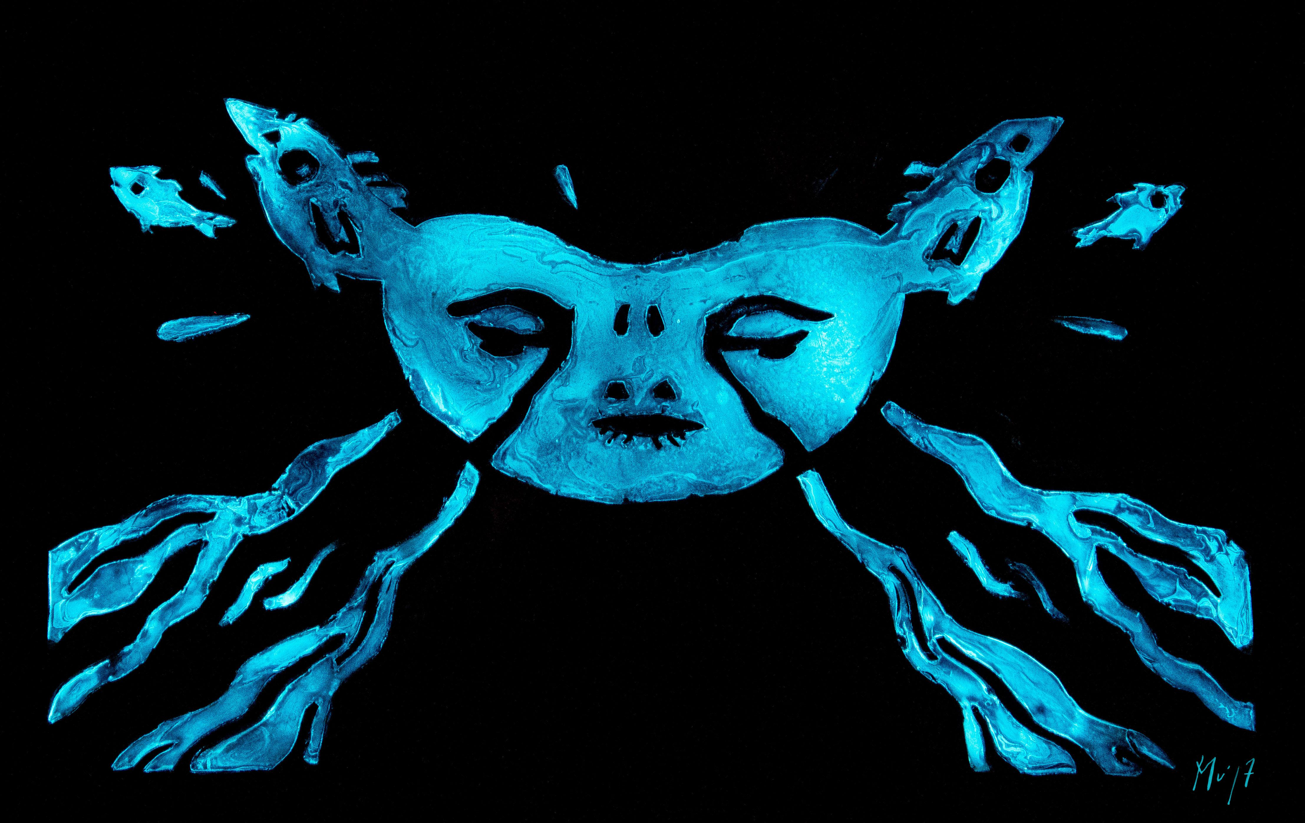 Je vis Je Meurs Mu Art Bioluminescent Muriel Blondeau