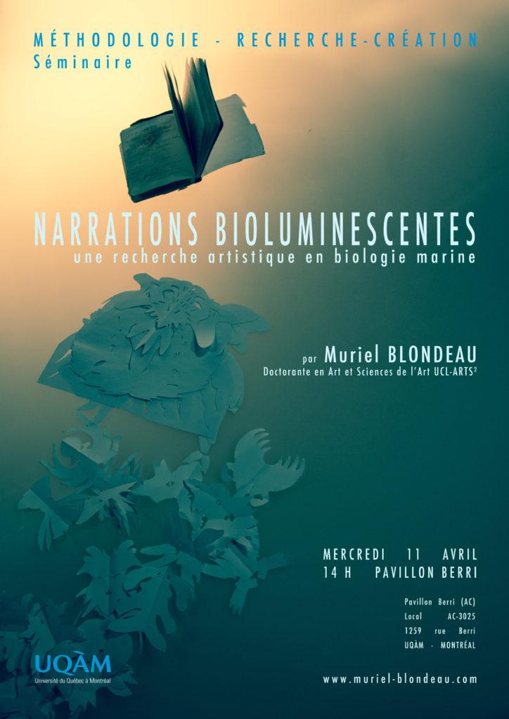 Conférence UQAM Mu bioluminescence Blondeau Muriel