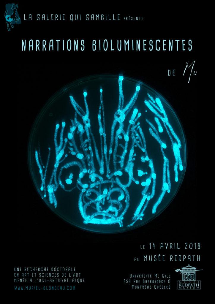 Expo Art bioluminescent Mu Musée Redpath Muriel Blondeau Montréal