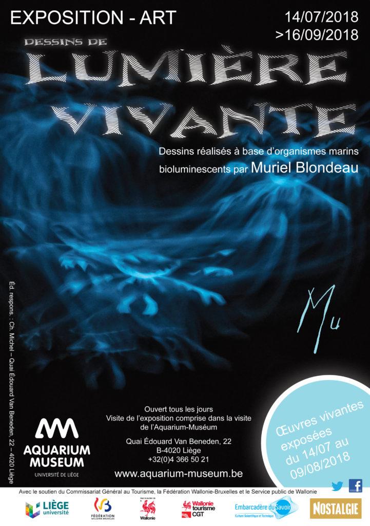 Aquarium Museum Liège Mu exposition Muriel Blondeau bioluminescence