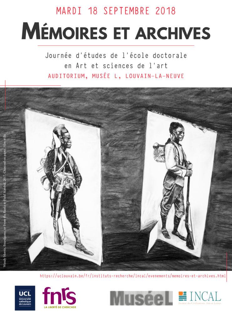 memoires et archives2 affiche conférences Muriel Blondeau
