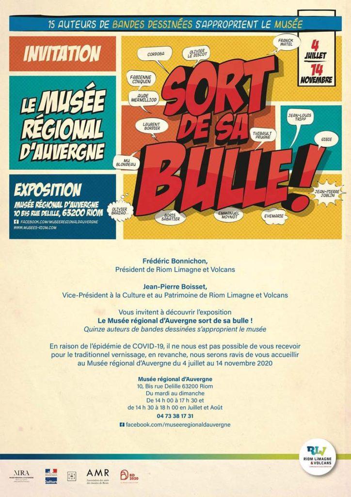 Expo BD Mu Blondeau Musée régional d'Auvergne