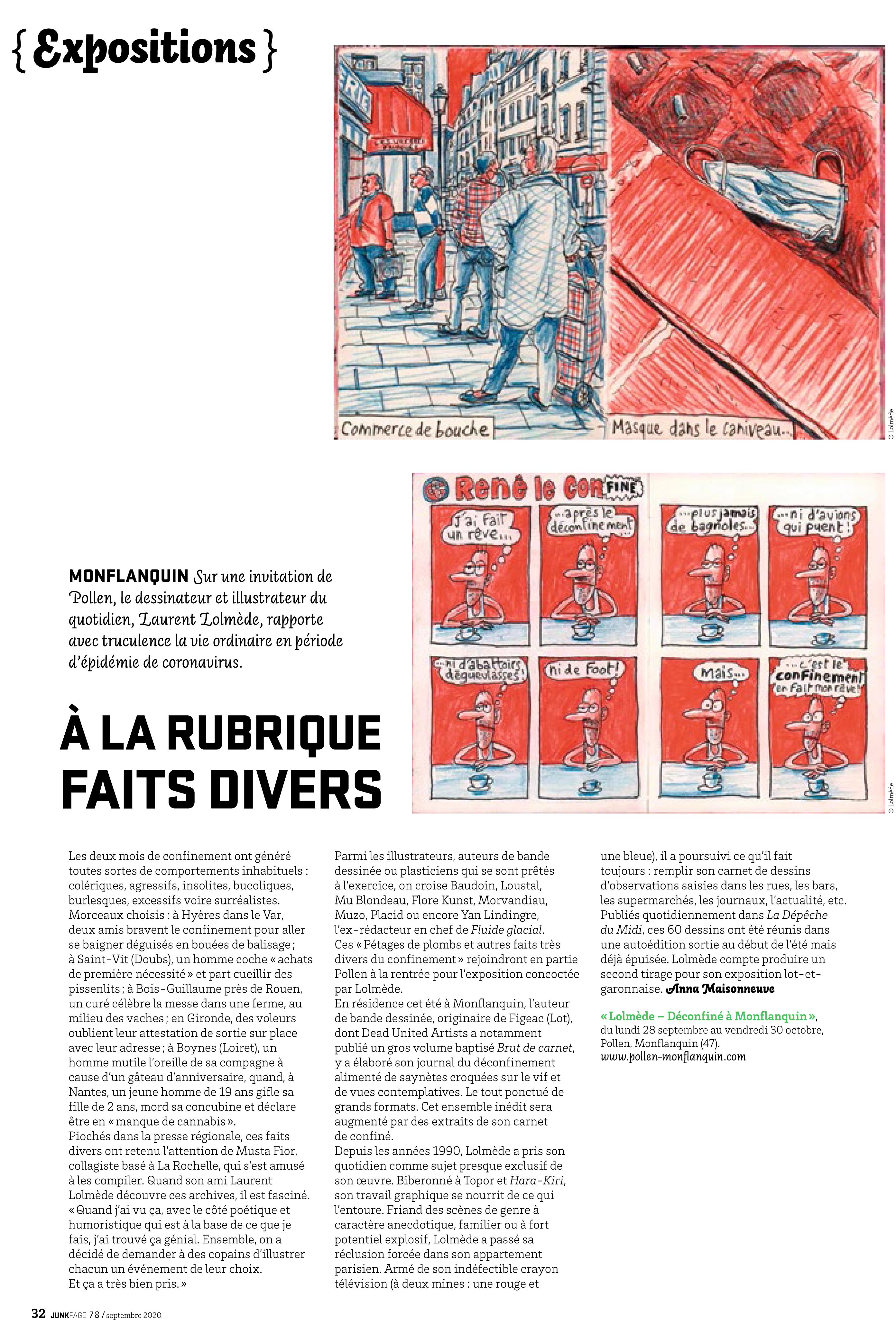 Mu Blondeau Junkpage Expo Lolmède Musta Fior
