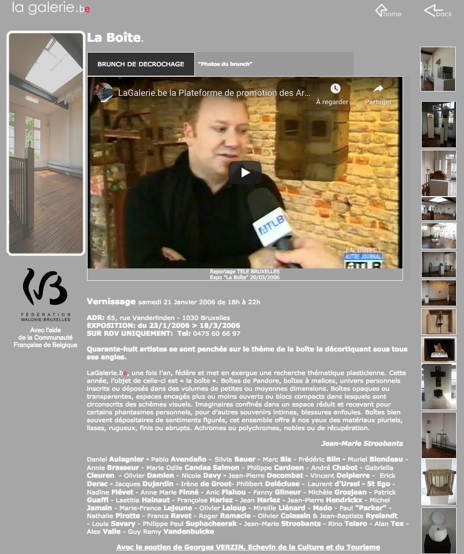 Mu Blondeau La Boîte Télé Bruxelles Lagaleriebe