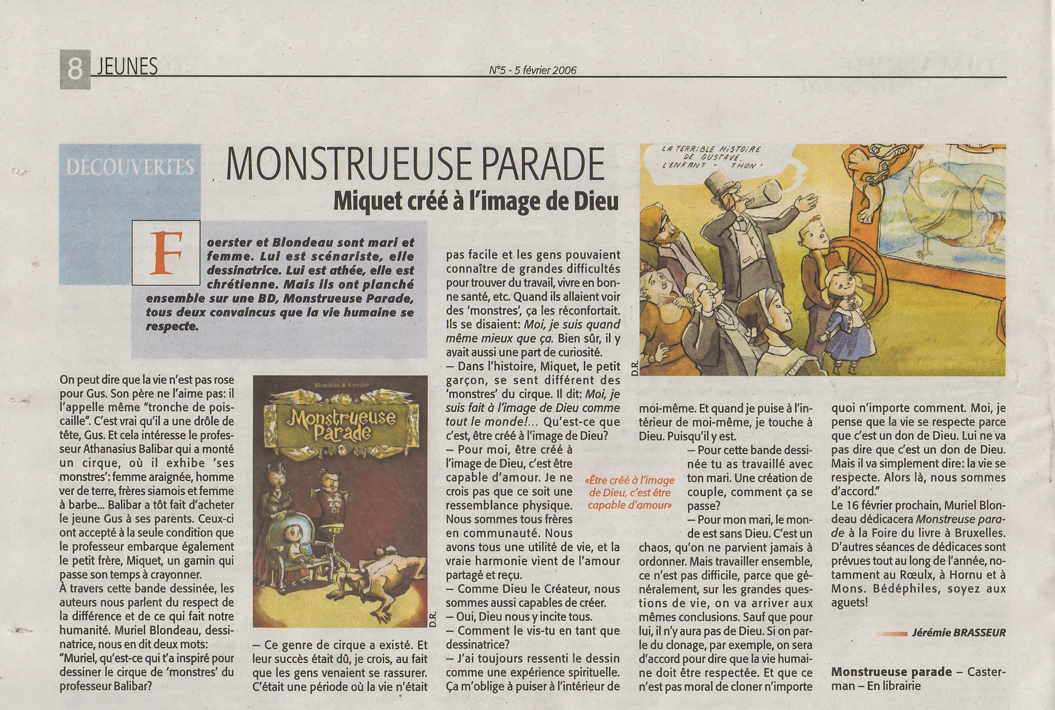 Mu Blondeau Monstrueuse Parade