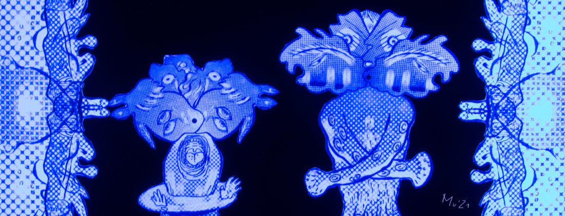 Mu Blondeau Expo Bon Vouloir Mons Marionnettes Lumière de Wood1