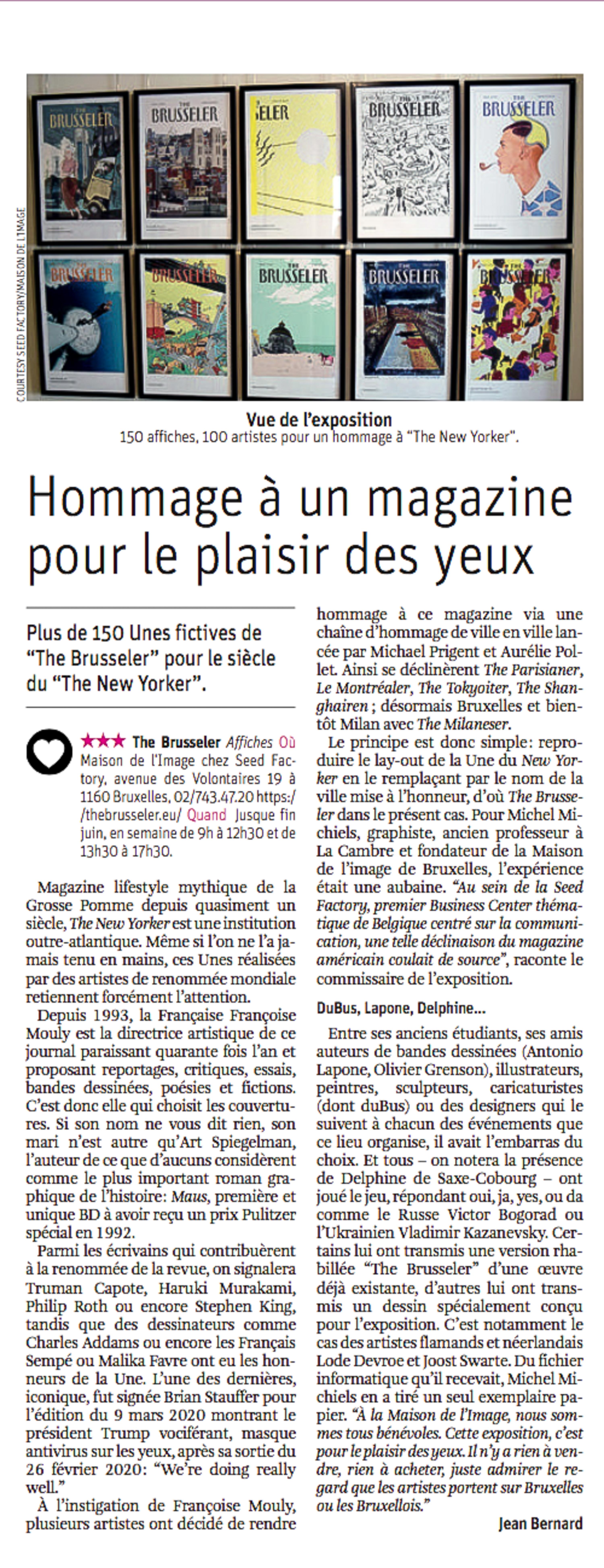 Mu Blondeau Expo The Brusseler La Libre Jean Bernard 21.04.2021